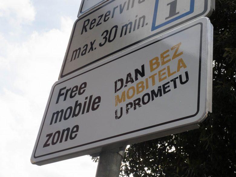 Free mobile zone, Opatija, Dan bez mobitela u prometu, mobitel, prevencija, parking, parkiranje